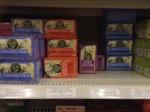 A shelf of medicinal teas