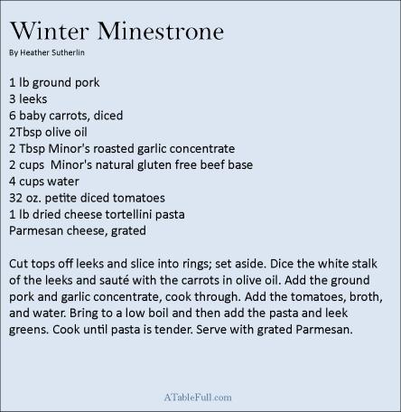 Winter Minestrone recipe
